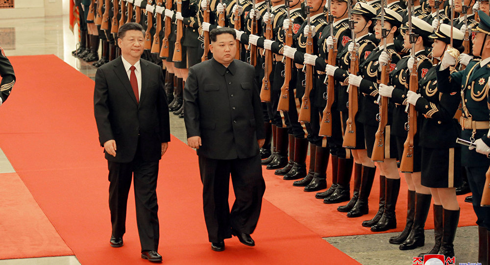 Xi Jinping et Kim Jong-un