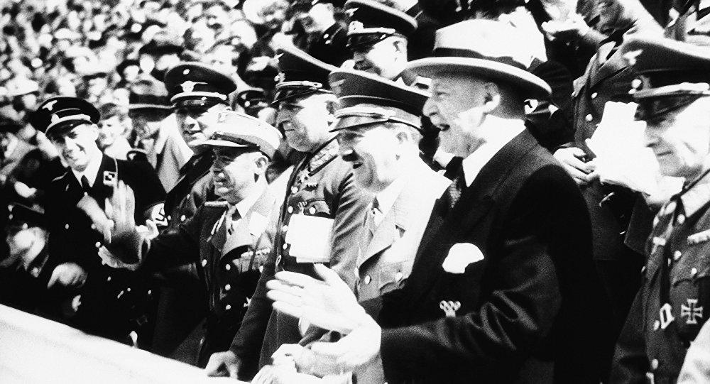 Adolf Hitler lors des Jeux olympiques de 1936. Image d'illustration
