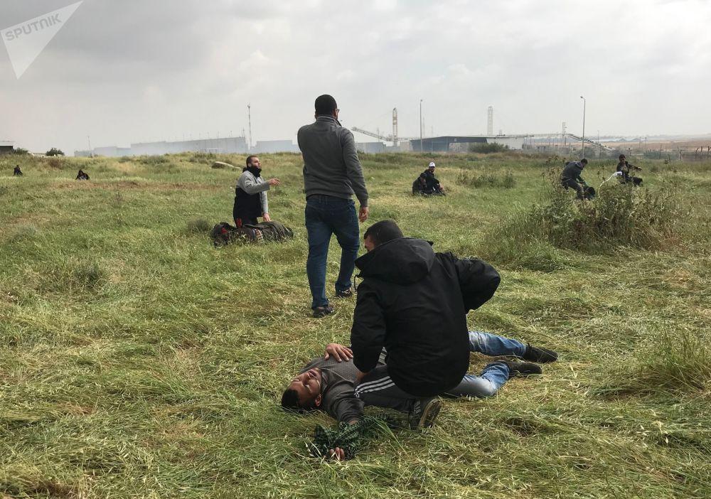 Affrontements entre les Palestiniens et l'armée israélienne dans la bande de Gaza