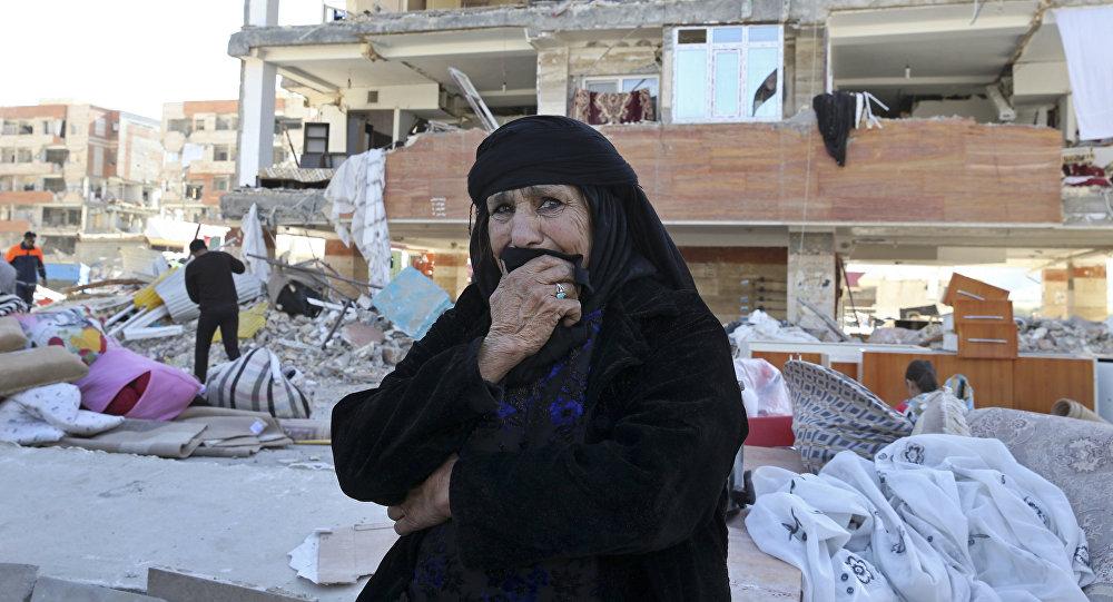 Une survivante au séisme du 12 novembre 2017 en Iran (archives photo)
