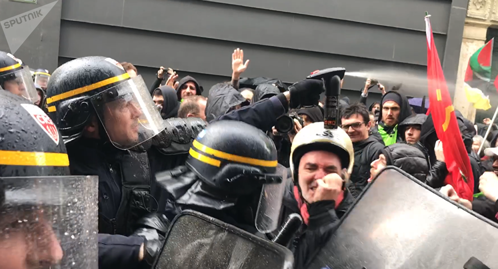 Manifestation des cheminots à Paris, 3 avril 2018