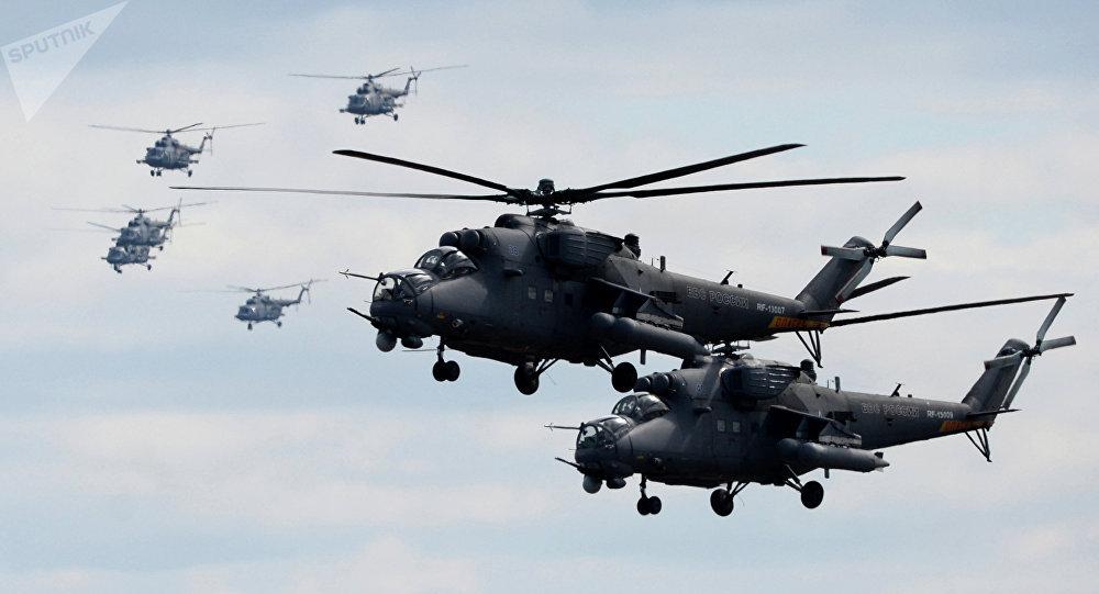 Des hélicoptères Mi-35