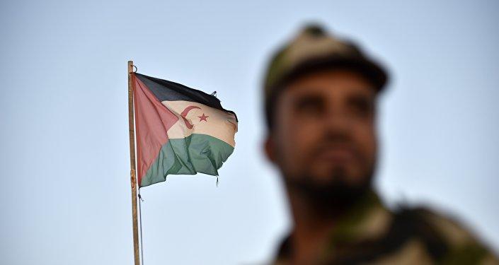 Un soldat du Front Polisario