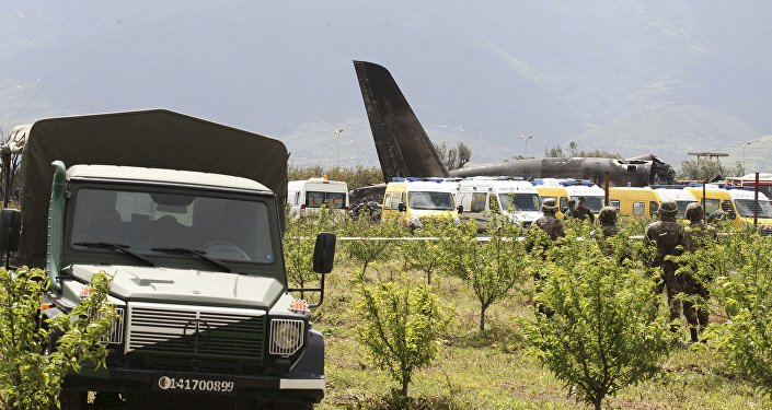 Lieu du crash d'un avion militaire en Algérie