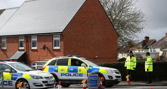 La police britannique près de la maison des Skripal à Salisbury