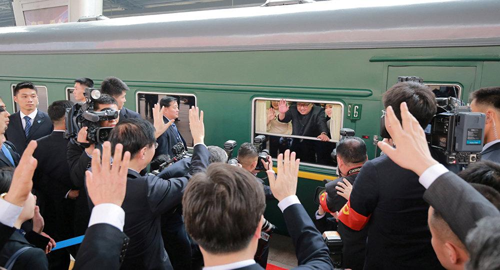 Kim Jong-un en visite à Pékin