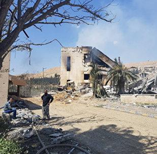 Le centre de recherche militaire à Barzeh