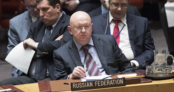 Vassili Nebenzia, représentant permanent de Russe auprès de l'Onu