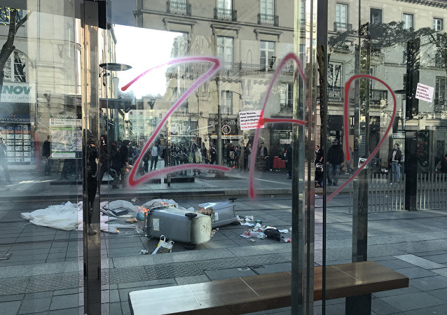 Une nouvelle manifestation pro-zadistes à Nantes, le 14 avril 2018