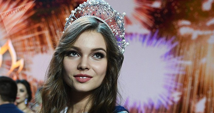 Miss Russia 2018 Yulia Polyachikhina (Chuvash Republic) during the awards ceremony for the finalists of the Miss Russia 2018 national beauty contest at the Barvikha concert hall