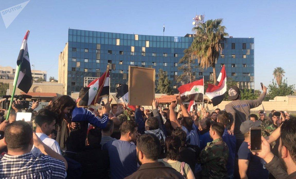 Rassemblement à Damas