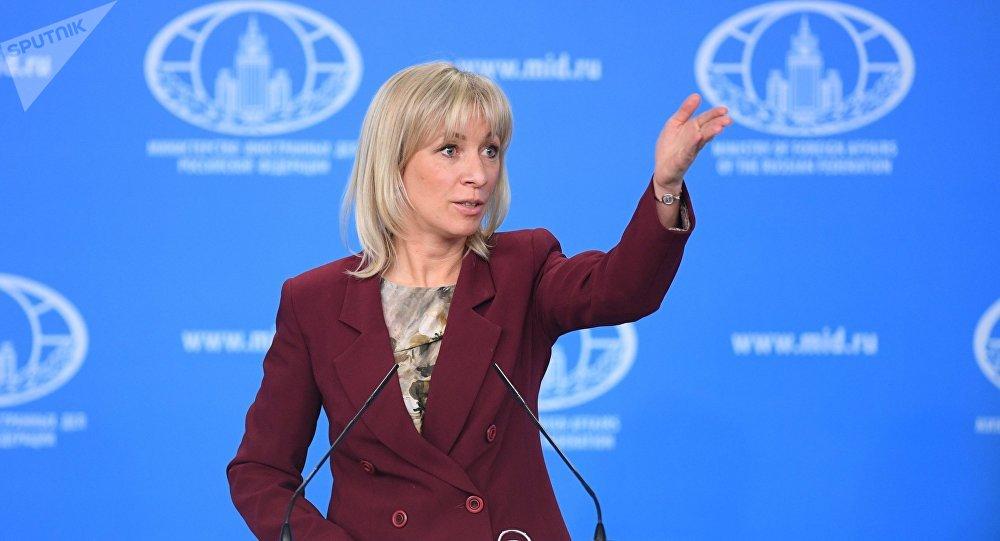 La porte-parole du ministère russe des Affaires étrangères, Maria Zakharova