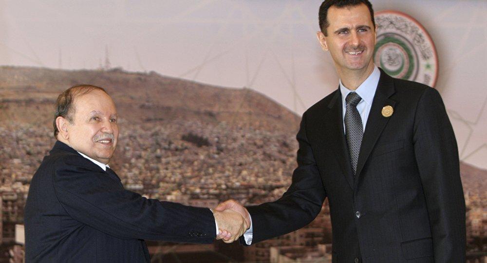 Abdelaziz Bouteflika et Bachar Assad à Damas le 29 mats 2008