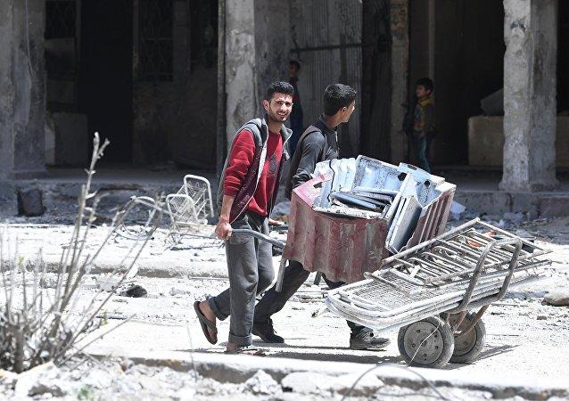 A Douma, en Syrie