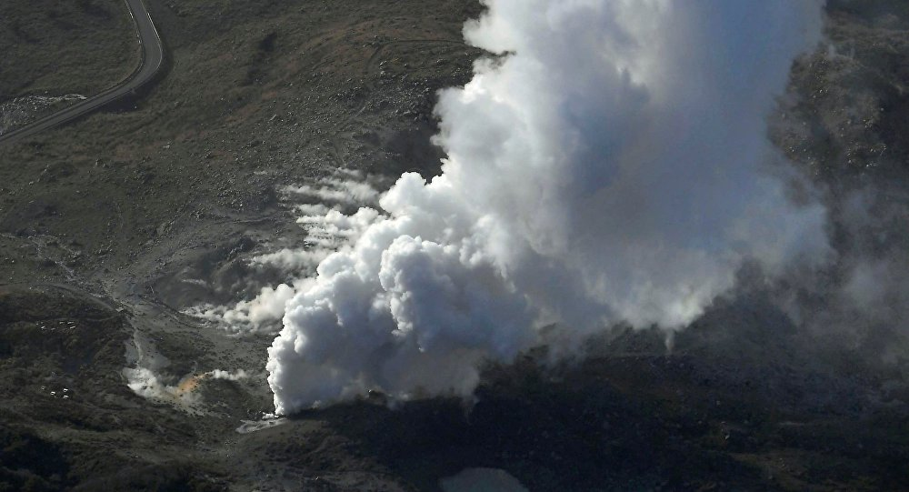 L'éruption du volcan Ioyama
