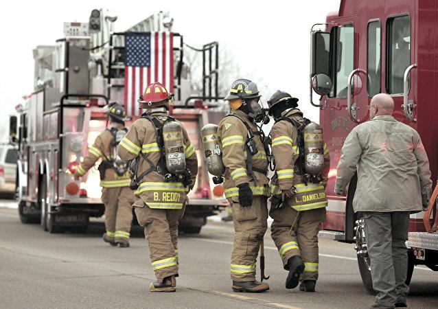 Pompiers dans le Wisconsin