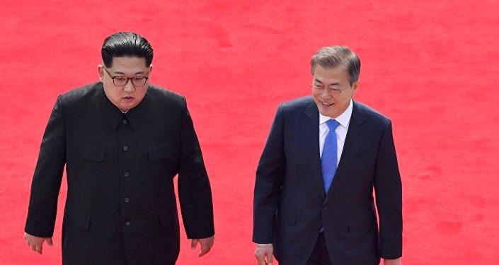 Kim Jong Un et Moon Jae-in