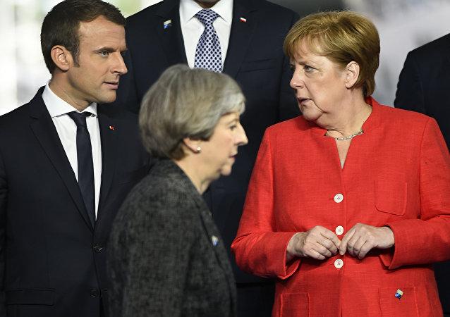 May, Merkel et Macron