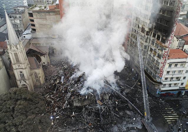 Incendie à Sao Paulo
