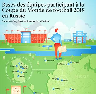 Bases des équipes participant à la Coupe du Monde de football 2018 en Russie