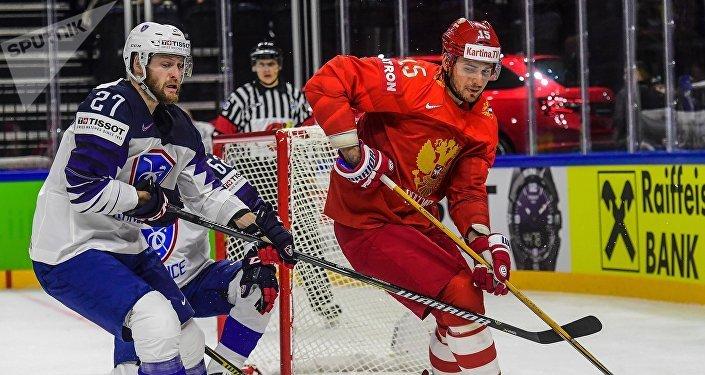 Moments forts du match Russie-France du championnat du monde de hockey sur glace 2018 à Copenhague