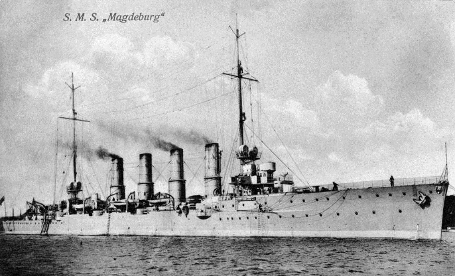Le croiseur léger allemand SMS Magdeburg