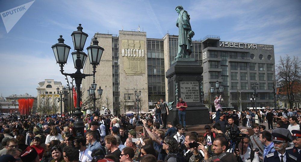 Manifestation non autorisée à Moscou (5 mai 2018)