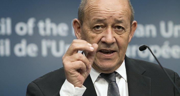 Der französische Außenminister Jean-Yves Le Drian