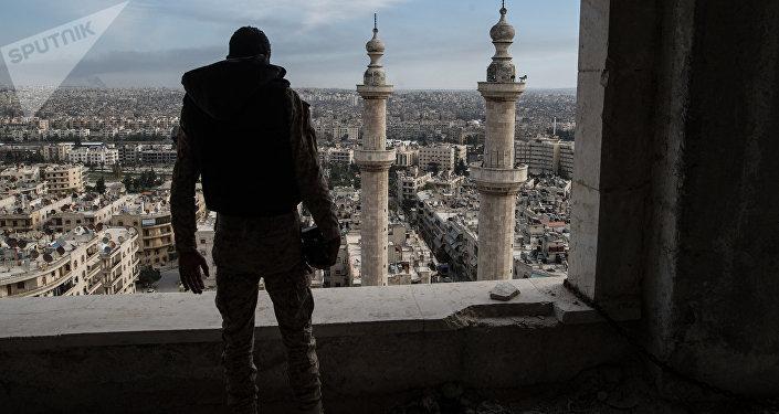 Un militaire à Alep