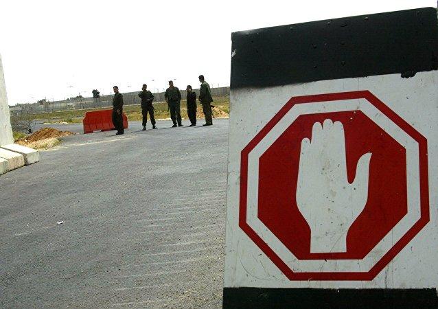 Le poste frontalier de Kerem Shalom. Photo d'archive