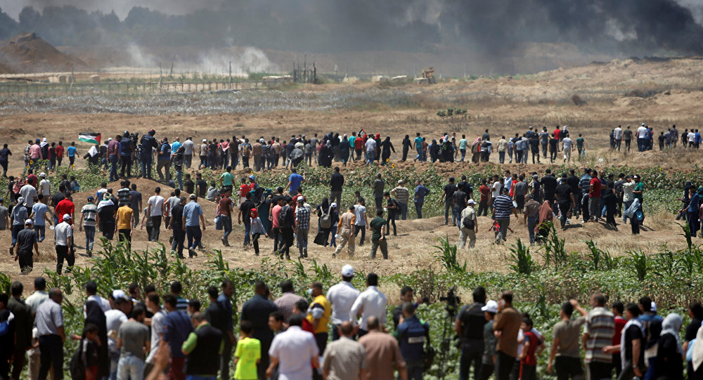 Les manifestations à Gaza le 14 mai 2018