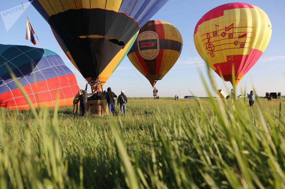 Festival de montgolfières dans la région de Krasnodar