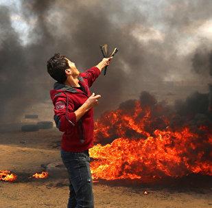manifestations dans la bande de Gaza