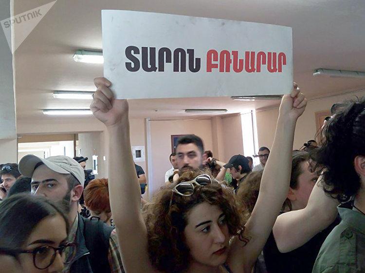 Au siège de la maire d'Erevan