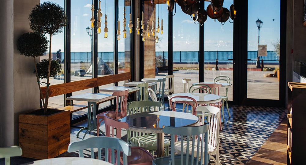 Décors du restaurant 5642 Vyssota à Sotchi