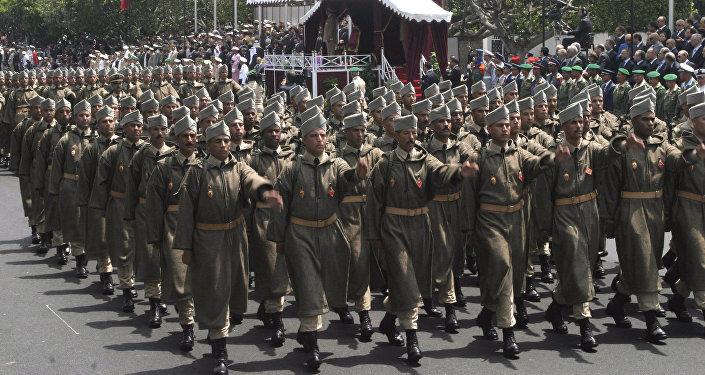 Soldats marocains en parade
