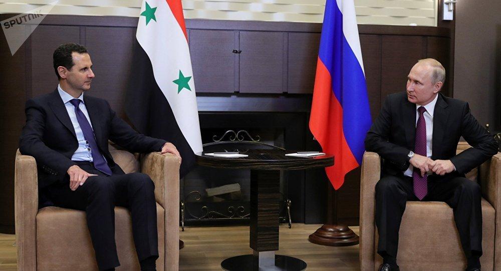 Vladimir Poutine et Bachar el-Assad