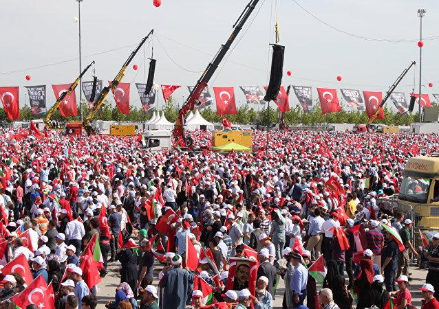 Une manifestation à Istanbul pour soutenir les Palestiniens