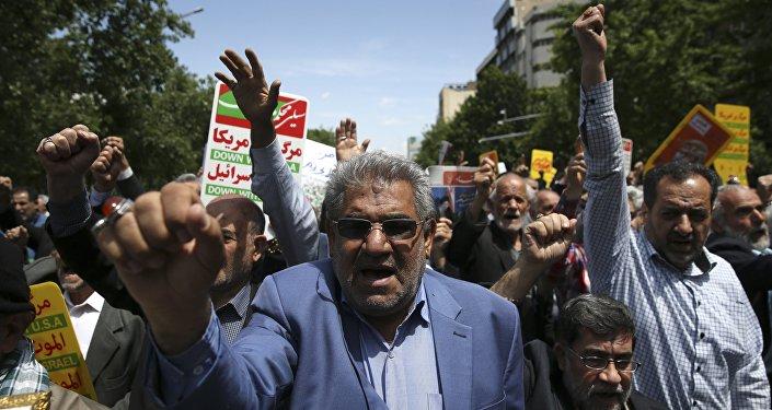 Protestations à Téhéran