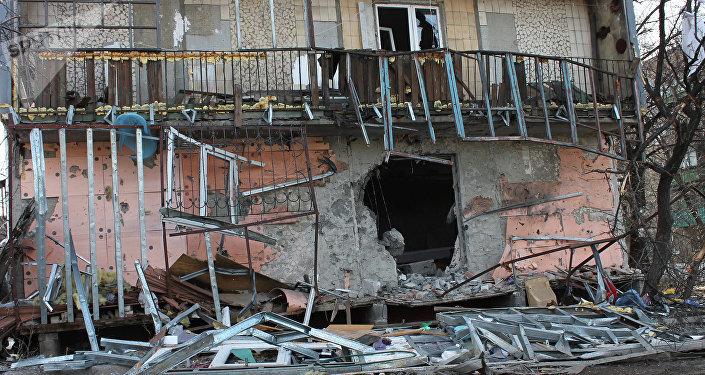 Destructions à Debaltsevo. Image d'illustration
