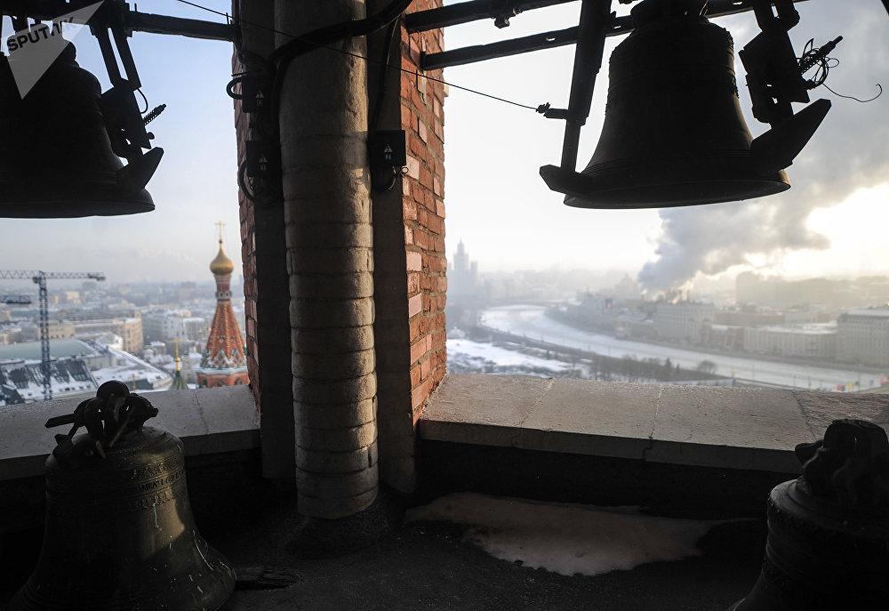 Le carillon de la tour Saint-Sauveur du Kremlin de Moscou