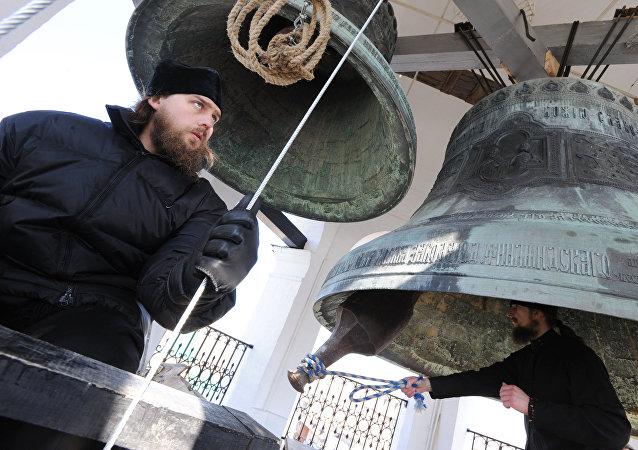 Le carillon du monastère Saint-Daniel de Moscou sonne pour la première fois après son retour d'Harvard