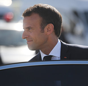 Macron  au Forum de Saint-Pétersbourg