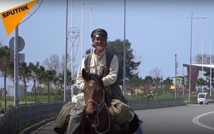 Voyage à travers les villes du Mondial 2018 à cheval