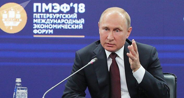 Vladimir Poutine au SPIEF
