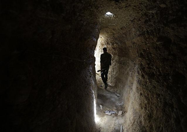 Un tunnel aux alentours de Damas