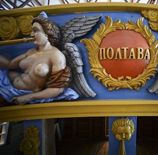 Une copie exacte du navire légendaire de Pierre le Grand lancée à Saint-Pétersbourg