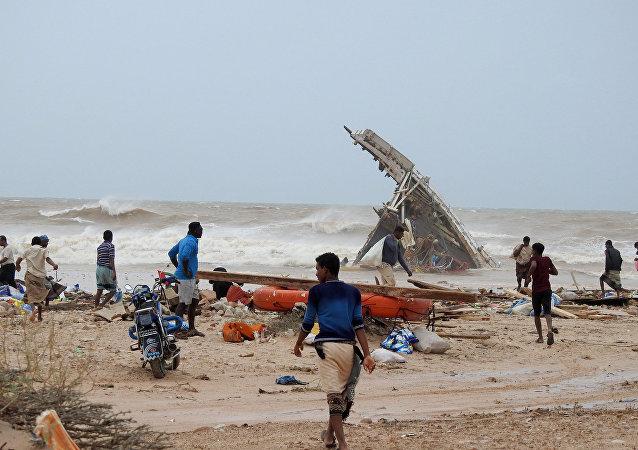 Le cyclone Mekunu