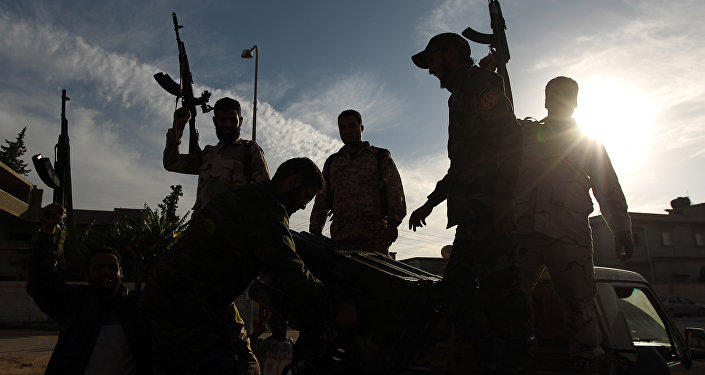 Troupes fidèles au maréchal Haftar