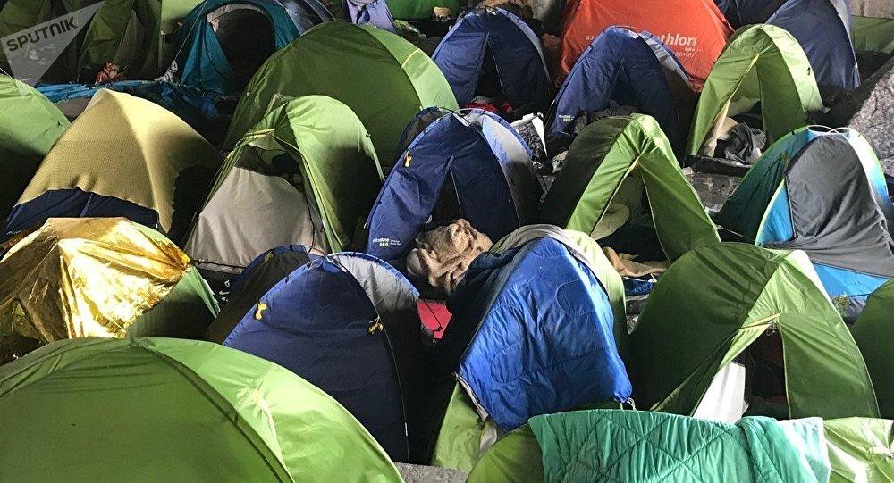 L'évacuation du camp du Millénaire à Paris